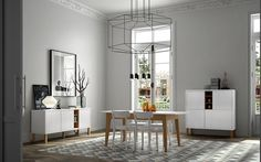 Niche with Pattern Collection / Cupboard, Sideboard and Dining Table : Serviesgoed & glaswerk van Temahome Cool Furniture, Modern Furniture, Home Living, Living Room, Table Accessories, Black Lamps, Best Dining, Dining Table Chairs, Dining Room Design