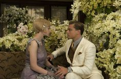 Catherine Martin on Creating the Costumes for The Great Gatsby: (L-r) Carey Mulligan as Daisy Buchanan and Leonardo DiCaprio as Jay Gatsby.