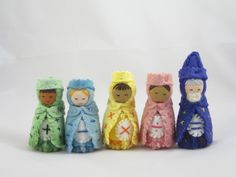 Royal Math Gnomes inspired by the Waldorf math curriculum: King Addition, Queen Subtraction, Prince Multiplication, Princess Division, and the Equals Wizard.