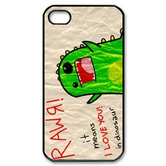 rawr dinosaur i love you iPhone 4/4s Case Cover Seamless Snap-On for Protection on Etsy, $15.50