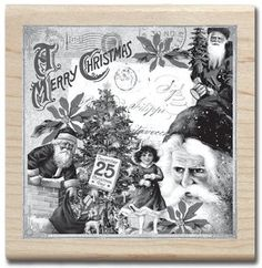 Christmas Collage (Graphic 45) - Rubber Stamps