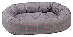 Donut Bed in Polo Plaid Fabric Small 27 x 22 x 7 in ** You can get additional details at the image link.