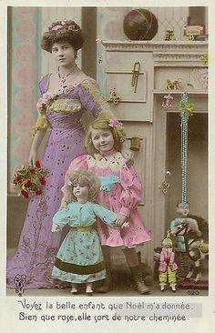 У камина. with dolls