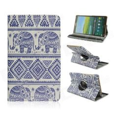 Patterned PU Leather Case w/ 360' Rotate Back for Samsung Galaxy Tab S 8.4 T700 - Multicolored Price: $11.91