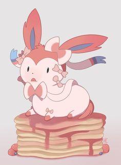 Sylveon! (On pancakes?..)