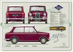 Riley Elf Mk2 1963-66 classic car portrait print