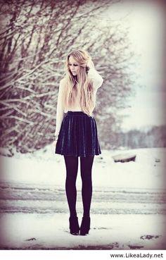 velvet skirt with sweater