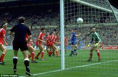 Shock tactics: Lawrie Sanchez nods Wimbledon to an unforgettable 1-0 win in 1988