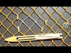 ☑️ Tres Métodos Básicos para hacer una RED 【SUBTITULADO】 - YouTube Net Making, Making Tools, Macrame Art, Macrame Knots, Rope Crafts, Crafts To Make, Diy Hammock, Cargo Net, Rope Knots
