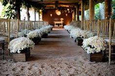 Resultado de imagem para decoração de casamento  religioso em sitio dia rustico simples