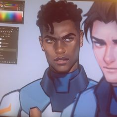 I need the full drawing NOW! Art Sketches, Art Drawings, Arte Do Hip Hop, Black Anime Characters, Voltron Klance, Form Voltron, Digital Art Tutorial, Wow Art, Character Design Inspiration