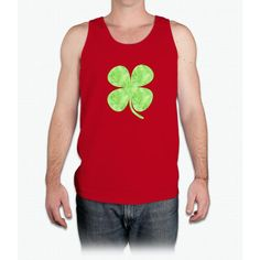St. Patrick's Day Watercolor Clover - Mens Tank Top