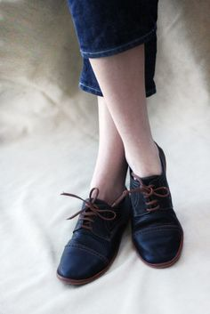 Black and Brown Chaplin Shoes - Leather Women's Oxfords - CUSTOM FIT on Etsy, $154.29 AUD