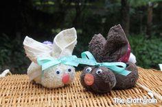 Flannel Ester Bunnies Craft #Easter #craft #kids