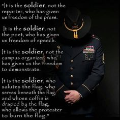It is the Soldier, Not the Reporter