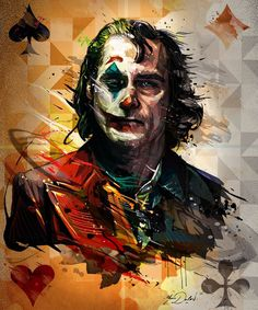 """My personal project, create a poster of """"Joker The Movie"""", future film of the genius actor Joaquin Phoenix.The Joker, the best famous Villain in the comics world.Alter Ego of The Batman. Le Joker Batman, Der Joker, Joker And Harley Quinn, Joker Comic, Joker Poster, Poster Marvel, Joker Hd Wallpaper, Joker Wallpapers, Joaquin Phoenix"""
