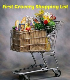 First Grocery Shopping List - setting up a new place - either first time or after a move? This is a list of what you should buy that first shopping trip! http://www.annsentitledlife.com/library-reading/first-grocery-shopping-list/