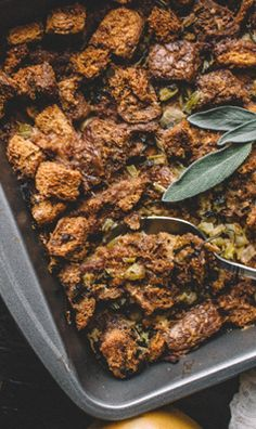 Packed with flavor, this herb butter stuffing is the perfect side dish.