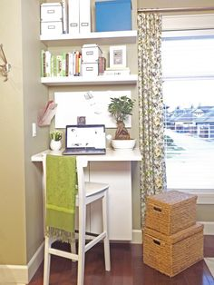I've been thinking of moving my secretary style desk to the studio and making a desk at the house - this might be perfect!