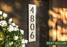 House numbersmodern address plaques vertical house numbers | Etsy House Address Sign, Address Plaque, Personalized Couple Gifts, Personalized Signs, Solar House Numbers, House Plaques, New Home Gifts, Home Signs, Modern