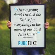 Give thanks to the Lord each and every day. #ThankYouLord