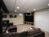 Aurora, Il -- Basement Design and Remodel - contemporary - media room - chicago - by DESIGNfirst Builders