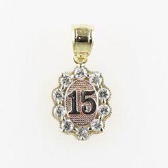 Quinceañera 15 Años Medalla Corazon Oro Real 14k Gold 15 Years Pendant Religious