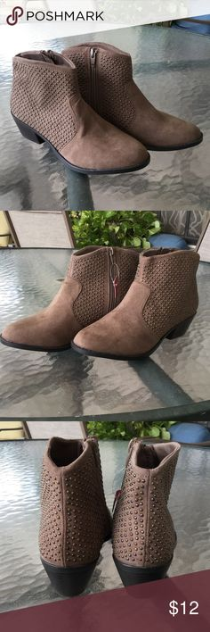 Mossimo ankle booties NWOT Cute studded ankle boots brand-new never worn.  Priced to sell January closet clean out Shoes Ankle Boots & Booties