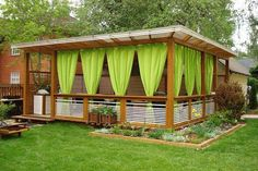 Large rectangular wooden pavilion # rectangular There are lots of Outdoor Kitchen Design, Patio Design, Garden Design, Exterior Design, Wooden Pavilion, Small Yard Landscaping, Wooden Canopy, Backyard Gazebo, Small Pergola