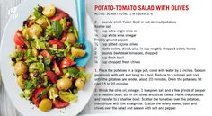 #Recipe: 🥔🍅🥗 Potato-Tomato Salad with Olives   #HealthyEating #HealthyRecipe