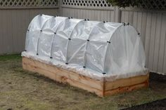 Raised Planter Box with Hoop House