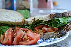 STLT (Smoked Tofu, Lettuce and Tomato) Sandwich (Vegan and Gluten-Free)