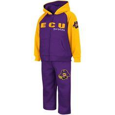East Carolina Pirates Toddler Jump Jacket & Pant Set - Purple/Gold $35.95