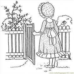 Colouring Pages Holly Hobbie Free Printable