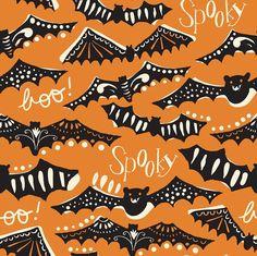 Gone Spook Orange: Spooktacular by Maude by LemonTreeFabrics