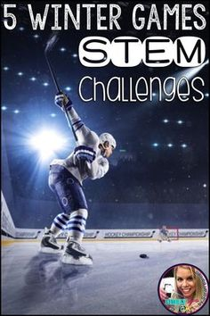 Teach your students about your favorite winter sports with these five STEM challenges. This STEM bundle is perfect for the Winter Olympics 2018. Each resource includes 5E lesson plans, games, reading comprehension passages, science experiments, and other printables. Included is a hockey game printable. Your kids will have fun with these hands on STEM activities. Preschool Science Activities, Science Experiments Kids, Reading Activities, Winter Activities, Science For Kids, Science Chemistry, Stem Science, Winter Games, Science Ideas