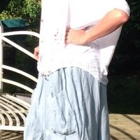 Gypsy Pocket skirt £59.99 layer up with Feathers Of Italy