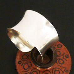 Wide Sterling Silver Cuff Bracelet
