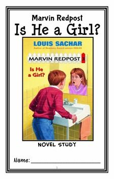 Marvin Redpost: Is He a Girl? (Louis Sachar) Novel Study / Reading Comprehension * Follows Common Core Standards *  This 30-page booklet-style Novel Study is designed to follow students throughout the entire book.  The questions are based on reading comprehension, strategies and skills. The Journal is designed to be enjoyable and keep the students engaged.