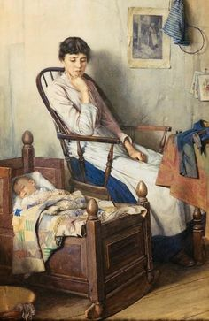Walter Langley (British, 1852-1922) 'Motherhood'