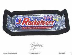 three racketeers wacky packages