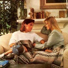 Mother and daughter at Priscilla's home in 1988. #priscillapresley #lisamariepresley