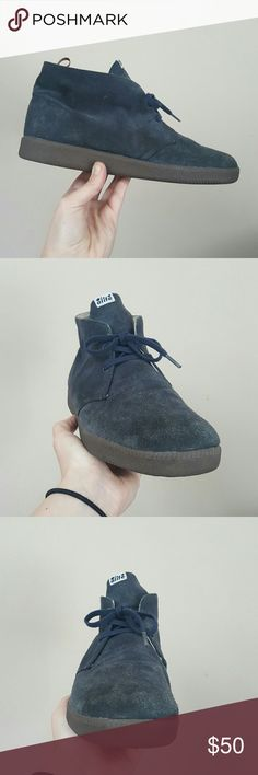 ALIFE SIZE 10 MENS CHUKKA SNEAKERS ALIFE MENS  SKATE STREET WEAR FASHION SIZE 10 GUC REALLY COMFORTABLE STYLISH CHUKKA BOOTS SNEAKERS HIGHTOP BLUE SUEDE SHOES Alife Shoes Sneakers
