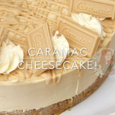 No-Bake Caramac Cheesecake – a Caramac Filling with a Buttery Biscuit Base and delicious decorations! No-Bake Caramac Cheesecake – a Caramac Filling with a Buttery Biscuit Base and delicious decorations! Caramac Cheesecake, Caramac Cake, Caramac Cupcakes, Cheesecake Recipes, Dessert Recipes, No Bake Cheesecake, Janes Patisserie, Delicious Desserts, Yummy Food
