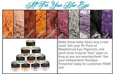 Moodstruck Mineral Pigments for creating captivating looks!  ☯ www.youniqueproducts.com/lanikrewson ☯
