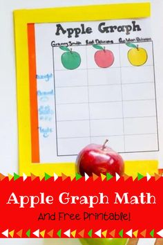 As part of our Apple Activities we have been learning to count, measure, weigh and graph. We came up with some surprising numbers and enjoyed all the apple tasting. Come check out our results and download a copy of our free apple graph printable, so you can try this activity too. Apple Activities, Activities For Kids, Homeschool Math, Homeschooling, Math Concepts, Free Math, Math For Kids, Math Lessons, Public School