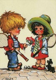 St. Wold ....  Jack en Carolien gaan tennissen... maar eerst een bosje bloemen voor mijn meisje.