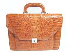 Genuine Crocodile Leather Briefcase in Light Brown(Tan) Crocodile Skin #CRM424BR-02 :: Genuine Alligator Belts, Crocodile Handbags, กระเป๋าหนังจระเข้แท้, เข็มขัดหนังจระเข้, Alligator Wallets, Bag, Ostrich Bags, Stingray Leather Belts. Manufacturer. Wholesale and Made to order.