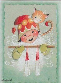 Kaarina Toivanen Christmas Drawing, Kids Christmas, Christmas Crafts, Scandinavian Kids, Scandinavian Christmas, Very Merry Christmas, Vintage Christmas, Creation Photo, Funny Drawings