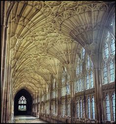Gloucester Cathedral (this hallway is featured in the Harry Potter films) #harrypotter #hogwarts